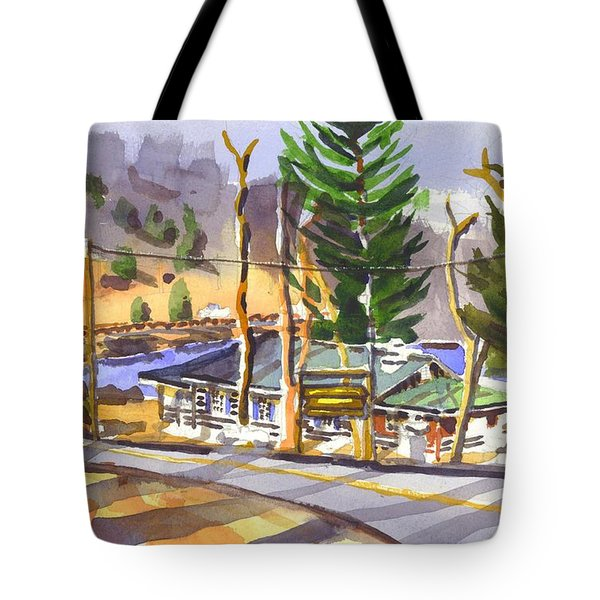 Camp Penuel At Lake Killarney Tote Bag by Kip DeVore