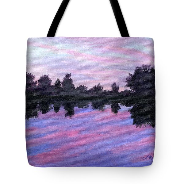Tote Bag featuring the painting Camp Sunset by Lynne Reichhart