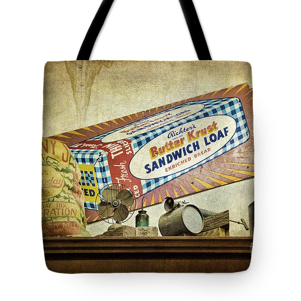 Camp Verde Texas General Store Tote Bag by Priscilla Burgers