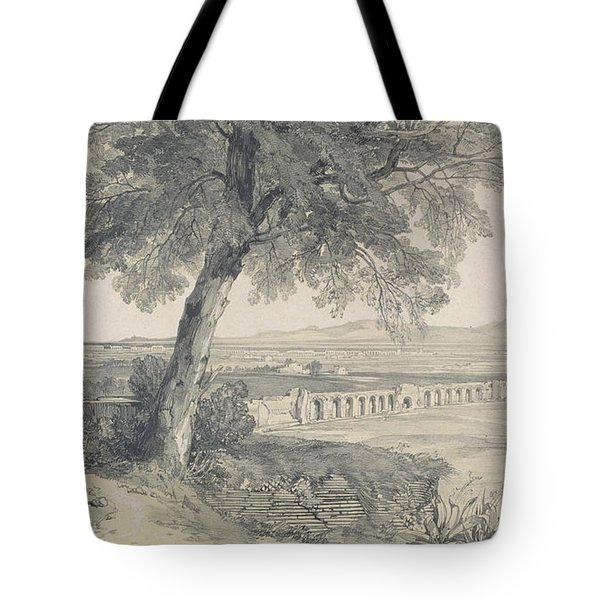 Campagna Of Rome From Villa Mattei Tote Bag by Edward Lear