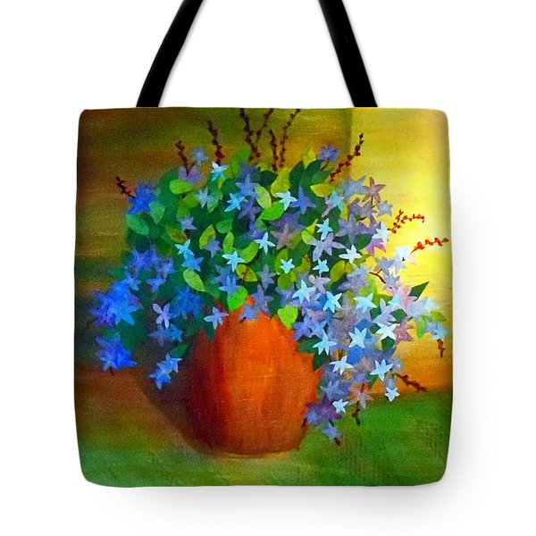 Campanula In Terra Cotta Tote Bag by Desiree Paquette
