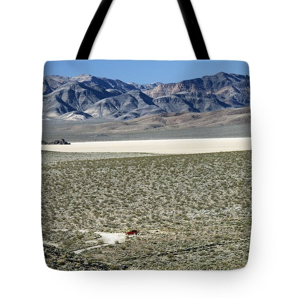 Tote Bag featuring the photograph Camped At The End Of The Road by Joe Schofield