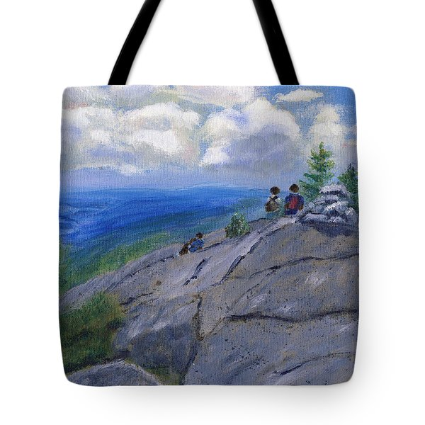 Campers On Mount Percival Tote Bag