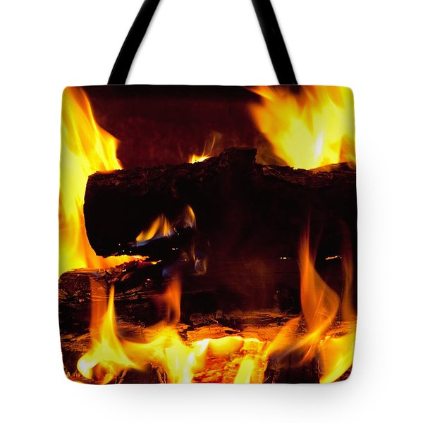 Campfire Burning Tote Bag
