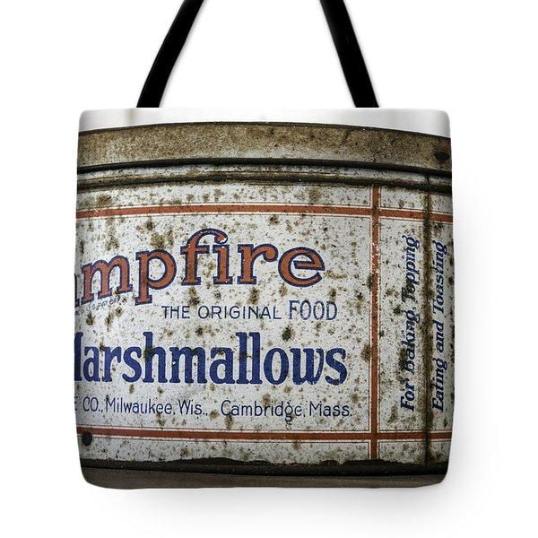Campfire Marshmallows Tin Tote Bag by Lynn Palmer