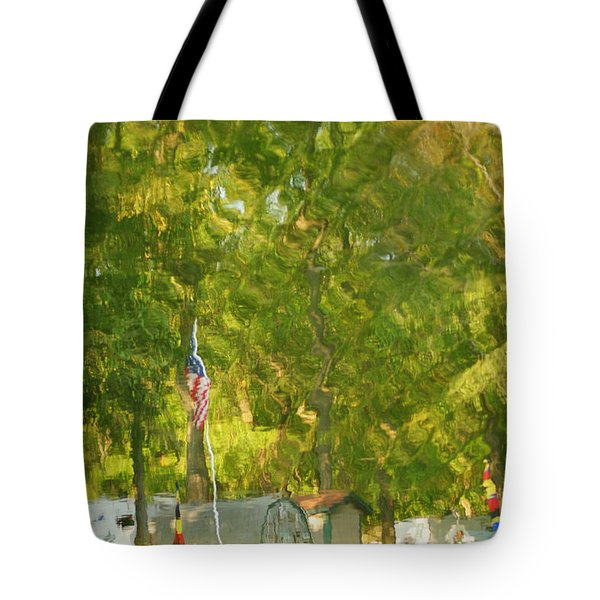 Campground Abstract Tote Bag by Frozen in Time Fine Art Photography
