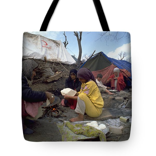 Camping In Iraq Tote Bag