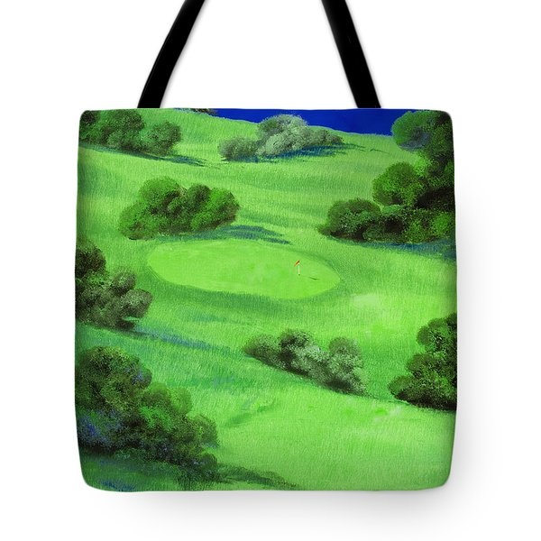 Campo Da Golf Di Notte Tote Bag by Guido Borelli