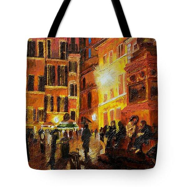 Campo Di Fiori- Italy Tote Bag by Fanny Diaz