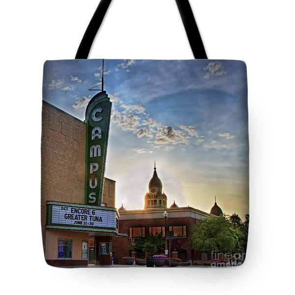 Campus At Sunrise Tote Bag