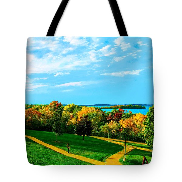 Campus Fall Colors Tote Bag
