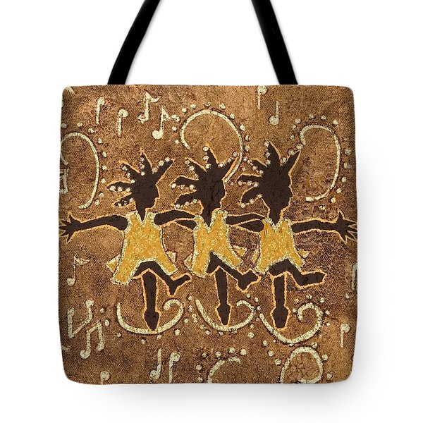 Can Can Dancers Tote Bag by Katherine Young-Beck