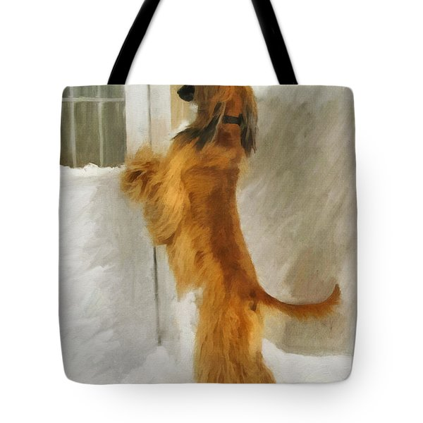 Can I Come In Now? Tote Bag