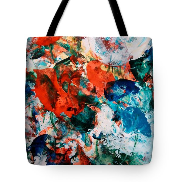 Tote Bag featuring the painting Can I Have This Dance by Lori  Lovetere