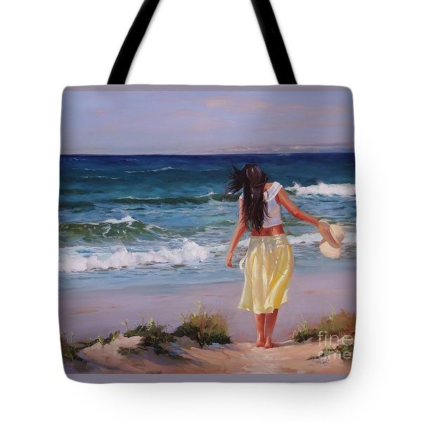 Can You Imagine Tote Bag by Laura Lee Zanghetti