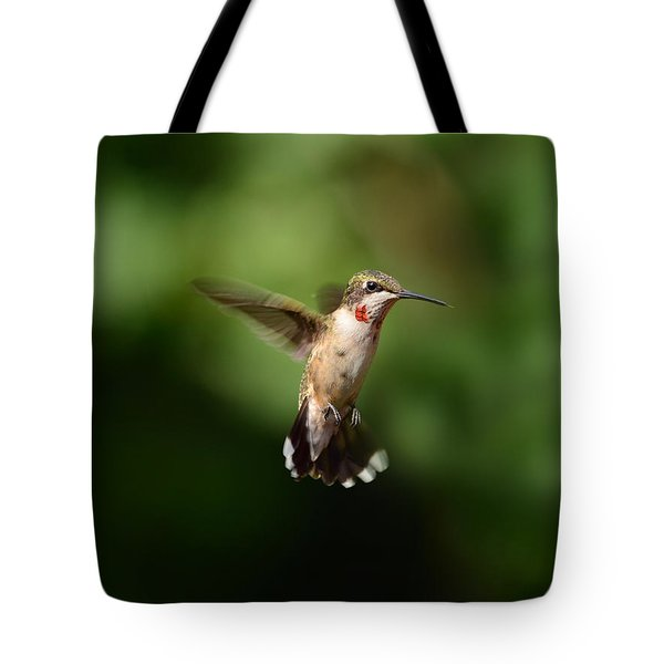 Can You See My Red Feathers Tote Bag