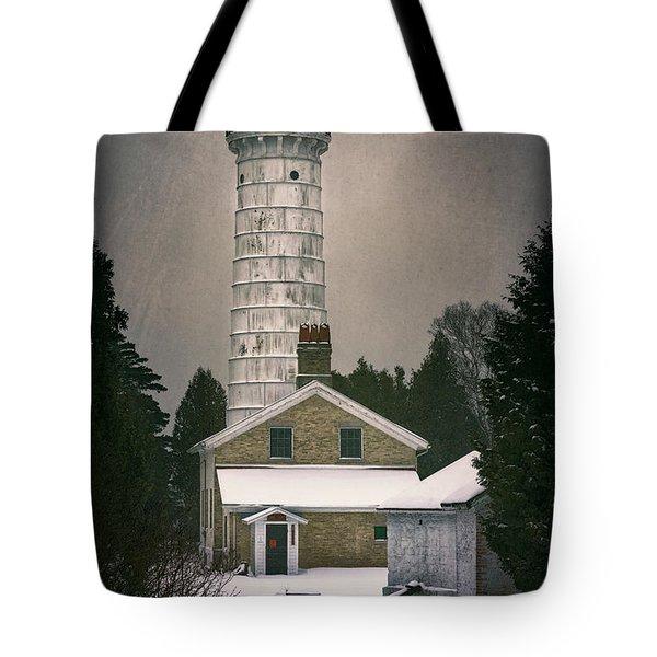 Cana Island Light II Tote Bag by Joan Carroll