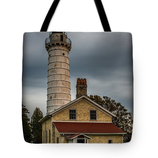 Cana Island Lighthouse By Paul Freidlund Tote Bag