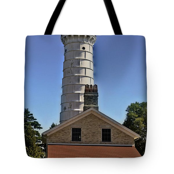 Tote Bag featuring the photograph Cana Island Lighthouse by Deborah Klubertanz