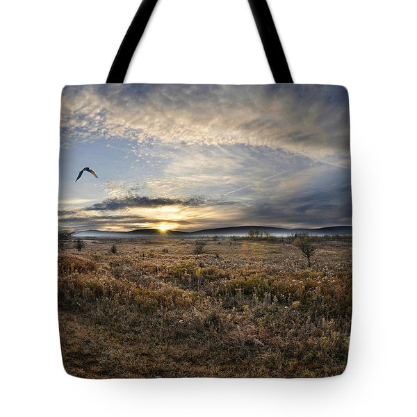 Canaan Valley In Morning Tote Bag by Dan Friend