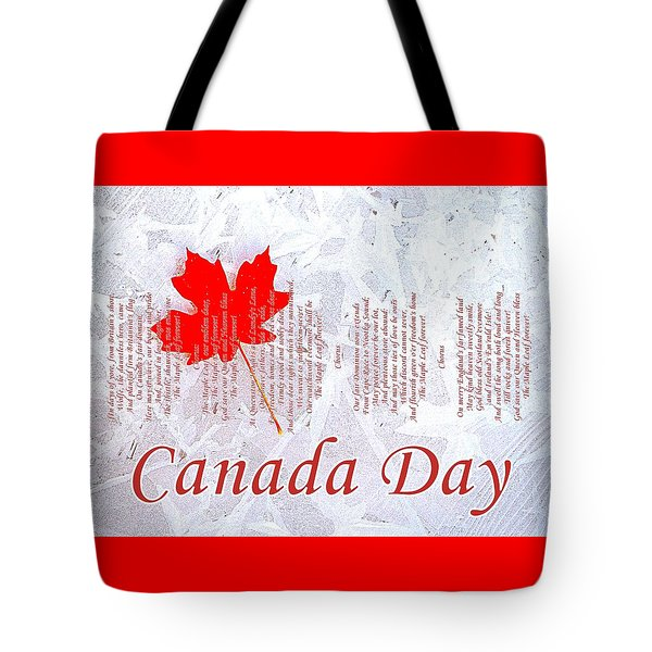 Canada Day .. The Maple Leaf Forever Tote Bag by The Creative Minds Art and Photography