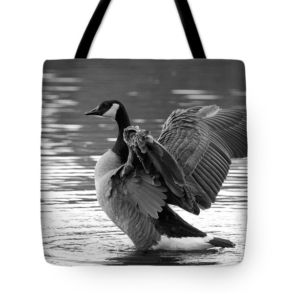 Canada Goose Black And White Tote Bag by Sharon Talson