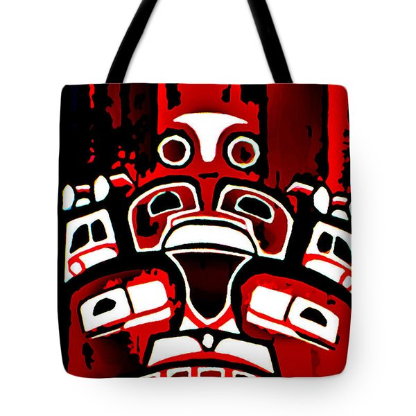 Canada - Inuit Village Totem Tote Bag