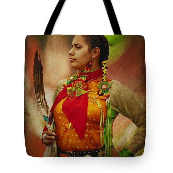 Canadian Aboriginal Woman Tote Bag