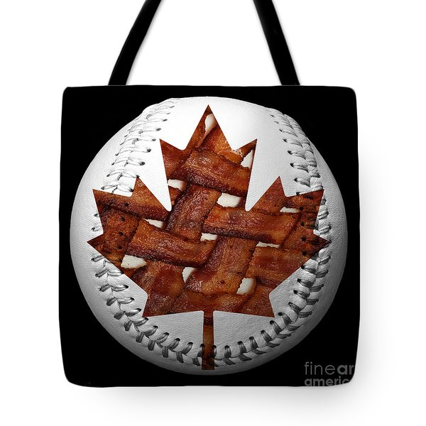 Canadian Bacon Lovers Baseball Square Tote Bag by Andee Design