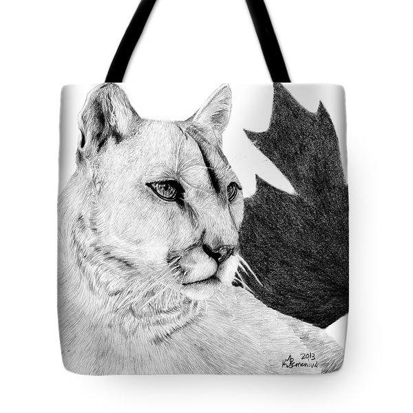 Canadian Cougar Tote Bag by Kayleigh Semeniuk