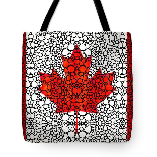 Canadian Flag - Canada Stone Rock'd Art By Sharon Cummings Tote Bag by Sharon Cummings