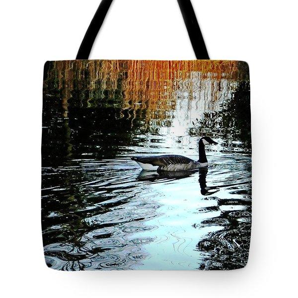 Canadian Goose At Burden  Tote Bag