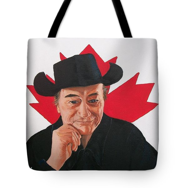 Canadian Icon Stompin' Tom Conners  Tote Bag