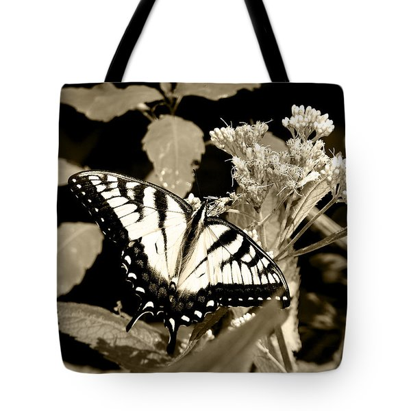 Canadian Tiger Swallowtail In Sepia Tote Bag