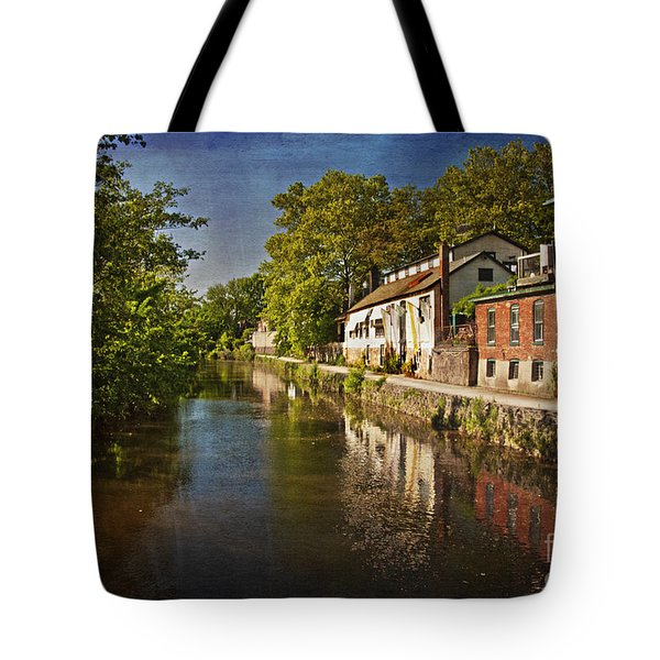 Tote Bag featuring the photograph Canal Along The Porkyard by Debra Fedchin