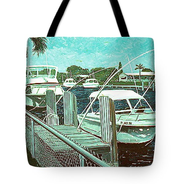 Canal At Pompano Tote Bag