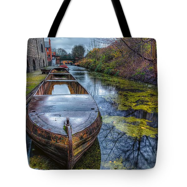 Canal Boat Tote Bag by Adrian Evans