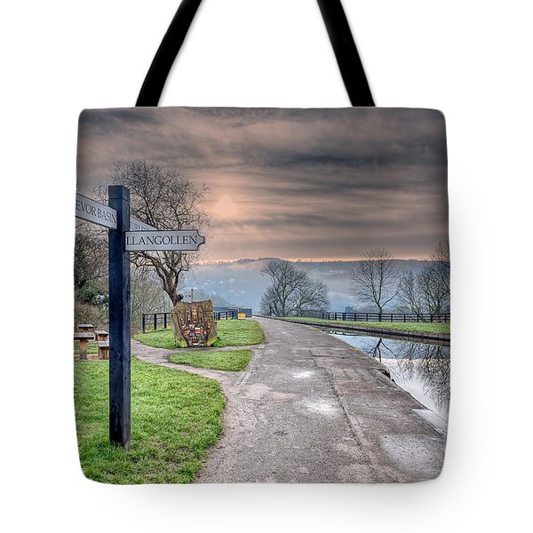 Canal Directions Tote Bag by Adrian Evans