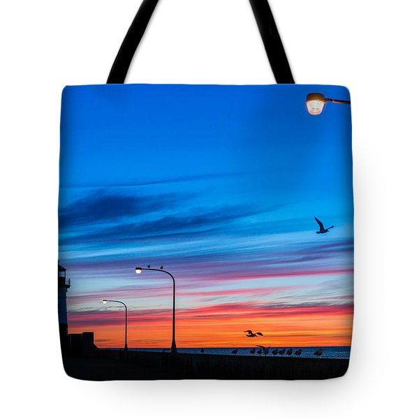 Canal Park Sunrise Tote Bag by Mark Goodman