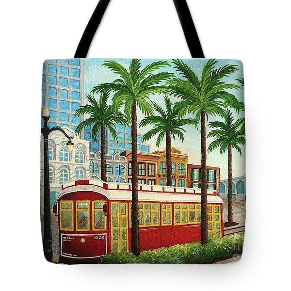 Canal Street Car Line I I Tote Bag
