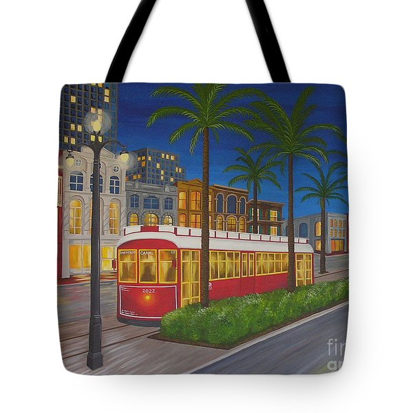 Canal Street Car Line Tote Bag