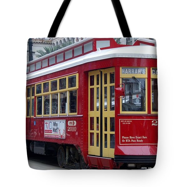 Canal Streetcar Nola Tote Bag