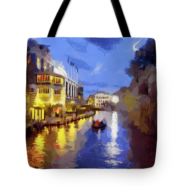 Water Canals Of Amsterdam Tote Bag by Georgi Dimitrov