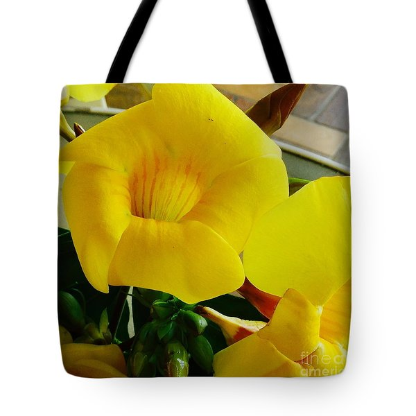 Canario Flower Tote Bag