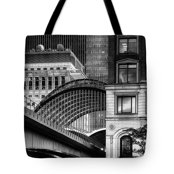 Tote Bag featuring the photograph Canary Wharf Hssm by Jack Torcello