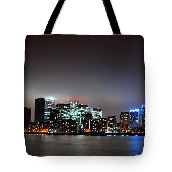 London Skyline Tote Bag by Mark Rogan