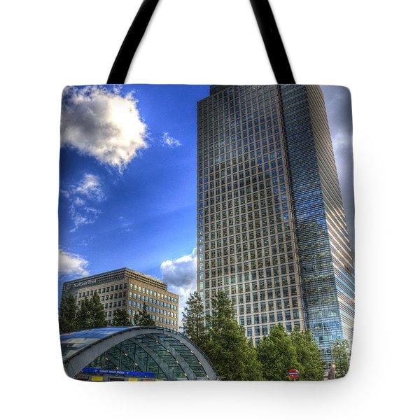 Canary Wharf Station London Tote Bag by David Pyatt