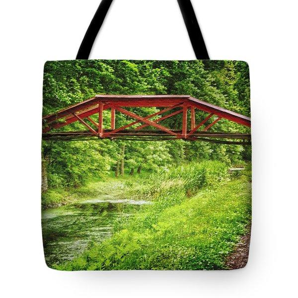 Canal Bridge Tote Bag