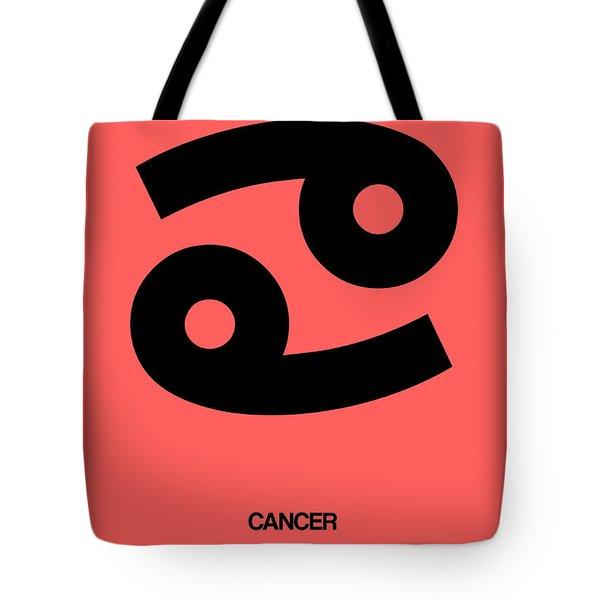 Cancer Zodiac Sign Black Tote Bag