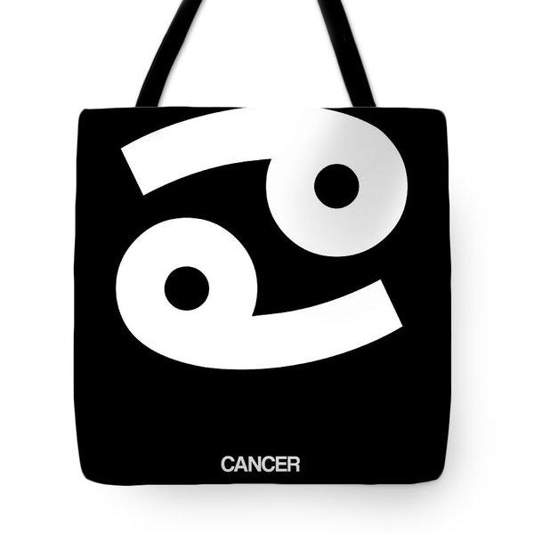 Cancer Zodiac Sign White Tote Bag